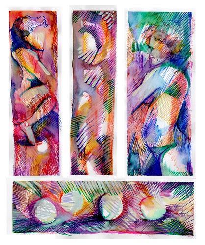 composition in colours by dibujandoarte