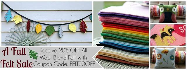 Wool Blend Felt Sale!