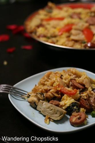 Paella Valenciana (Spanish Valencian Pan Rice) 17