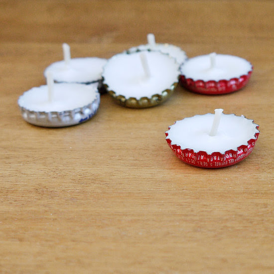 How to make bottle cap tealights