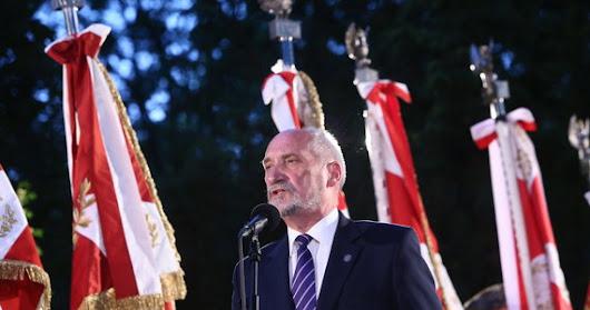 Macierewicz: Żaden polski żołnierz nie zapomni o ofierze krwi prezydenta Lecha Kaczyńskiego