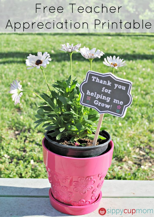 Thank You for Helping Me Grow Printable + 15 Teacher Appreciation Gifts - Sippy Cup Mom