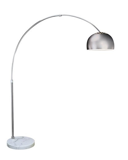 Big Arc Floor Lamp Brushed Steel | TFA9005  | Floor Lamps by Trend Lighting