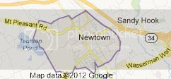 Newton and Sandy Hook, from Google Maps