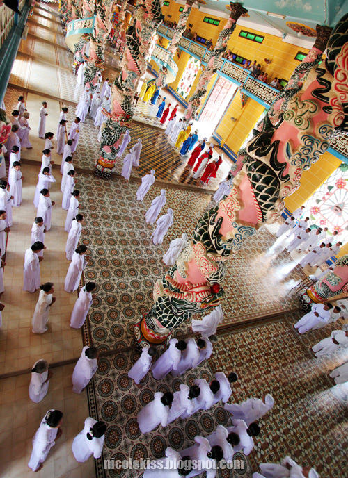 inside Tay Ninh Holy See