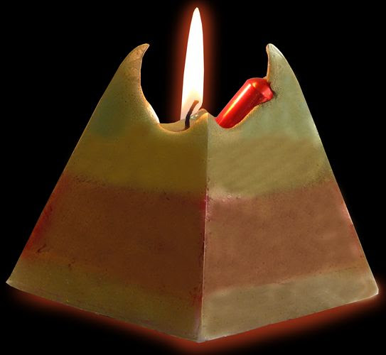 Large Pyramid Cash Candle - Money Candle with REAL money ...
