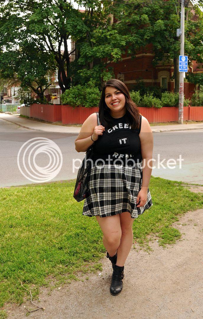 plus size fashion 2015 toronto canada plaid skirt new look h&m plus size creep it real