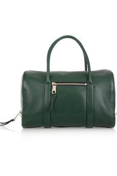 Chloe Madeleine Leather Duffle Bag in Forest Green