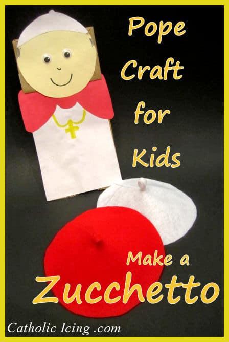 pope craft for kids zucchetto w