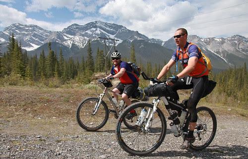 Riders head for Smith-Dorrien Road