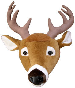 Wall-mount white-tail deer head for the 'Great Outdoors' look