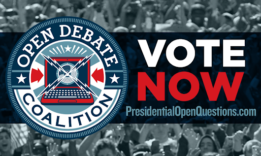Vote on this #OpenQuestion for next presidential debate!