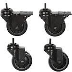 Premier Mounts - CAST - 4 Piece Caster Set for Avecta and EB Floor Carts (Black)