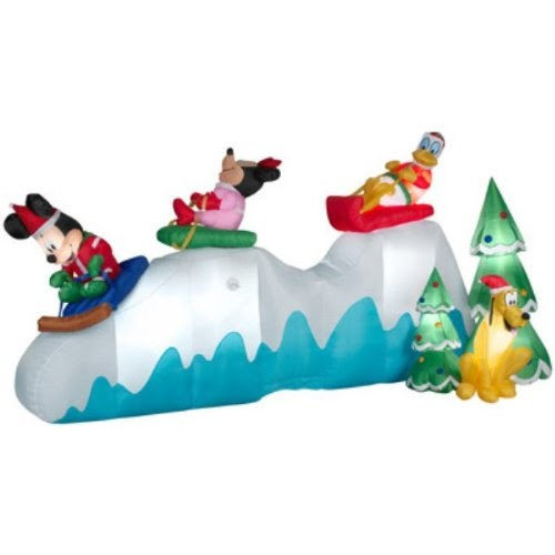 Gemmy Christmas 10 W Airblown Inflatable Winter Carolers: Mickey Mouse And Friends Outdoor Christmas Inflatables