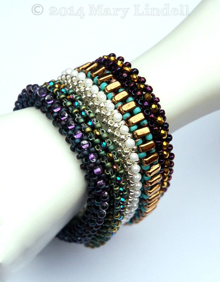 Stackable Right Angle Weave Bracelets - Mary Lindell Artisan Jewelry