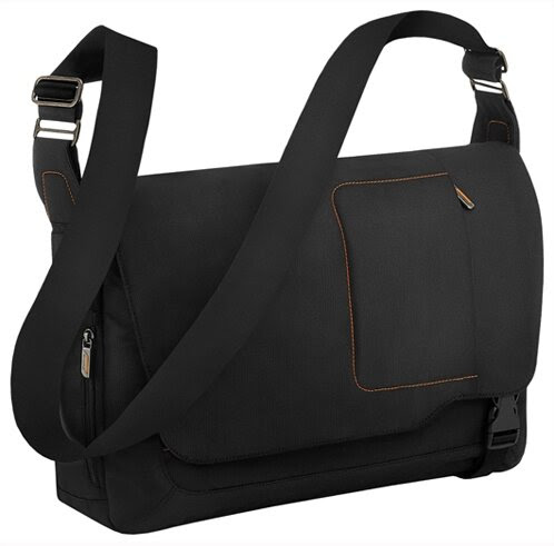 Briggs & Riley VB411X - Verb Grow Expandable Messenger Bag in Black