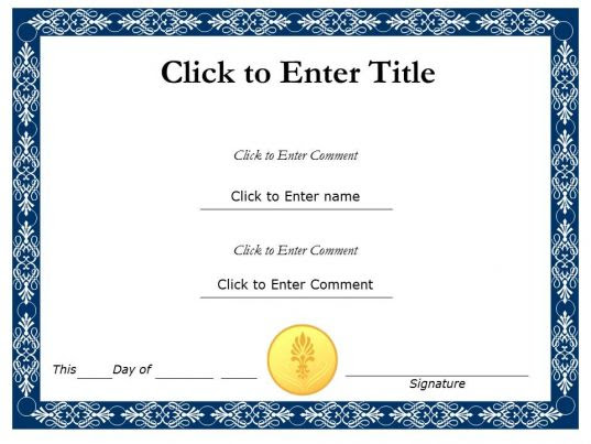 PowerPoint Certificate Templates | Certificate PowerPoint Diagrams ...