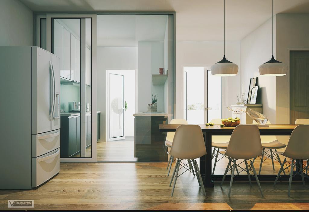 dining room fridge | Interior Design Ideas.