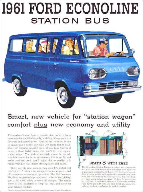1961 ford usa Econoline Station Bus