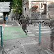 Ghosts of war: Artist superimposes World War II photographs on to modern pictures of the same street scenes