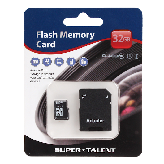 Super Talent 32GB MicroSDHC Card (Class 10) – $12.99