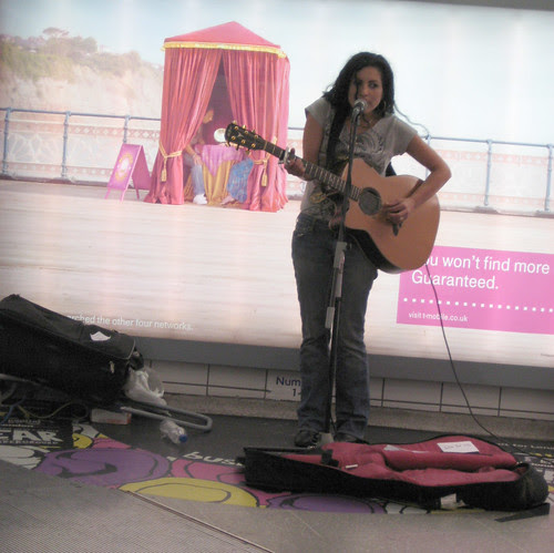 Hadar Queen of the Underground Busking at Leicester Square