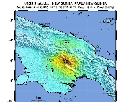 Data Event Response to the February 25, 2018 M 7.5 Earthquake 81km SW of Porgera, Papua New Guinea | Highlights | UNAVCO