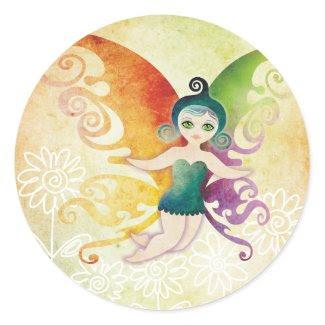 spring fairy sticker