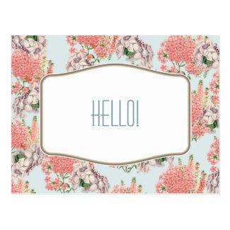 Flower, hortensias pink gardenias details celestia postcards