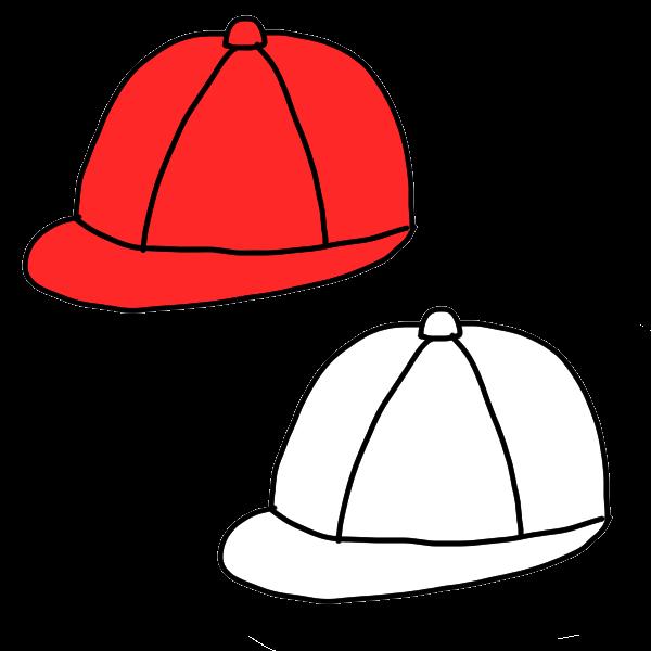 赤白帽のイラスト かわいいフリー素材が無料のイラストレイン