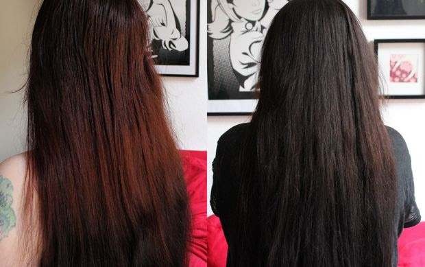 Dunkle Haare Lila Farben