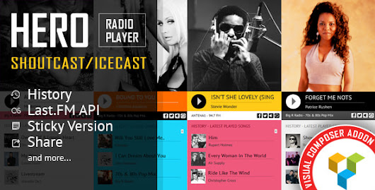 Download Free Hero - Shoutcast and Icecast Radio Player With History - Visual Composer Addon v1.6.4 - Download Free Themes