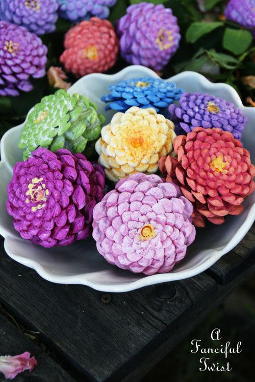 kozalaktan-çiçek-yapımı