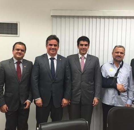 Beto Salame, Ciro Nogueira, Helder Barbalho e João Salame, agora há pouco em Brasília.