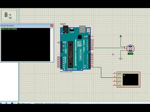 RFID based door lock simulation in Proteus