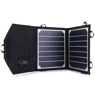 8W 6000mAh Foldable Solar Panel Charger USB Output