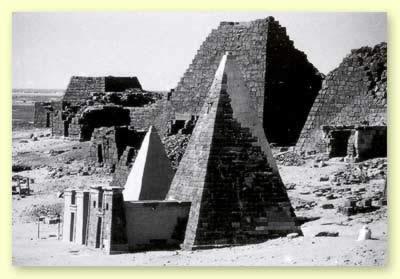 Two Pyramids at Meroe restored by F. W. Hinkel