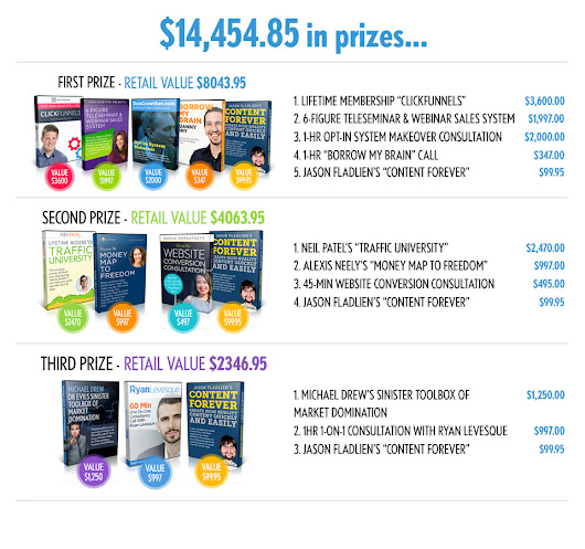 Online Business Superhero Summit Contest - $14,454.85 in prizes must be won!