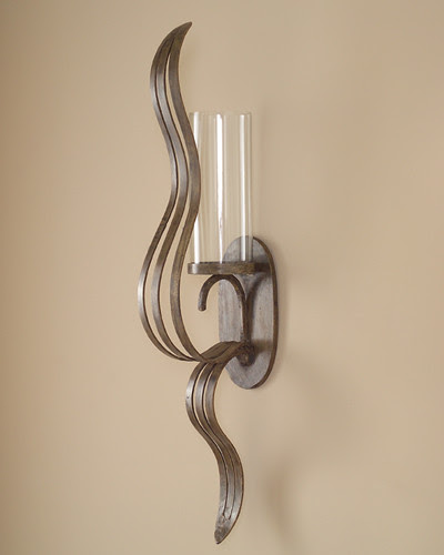 John Richard 39x6x10 Free Form Sculputred Wall Sconce ...