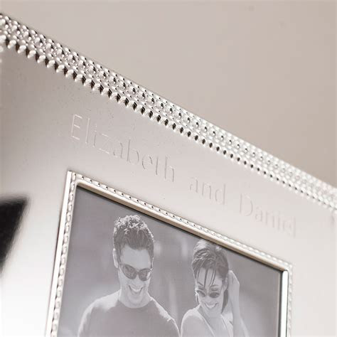 Engraved Silver Decorative Photo Frame   Engraved Gifts By