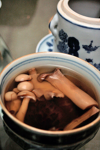 Vegetarian Buddha Jumps Over the Wall - Double-boiled mushroom soup that's really potent