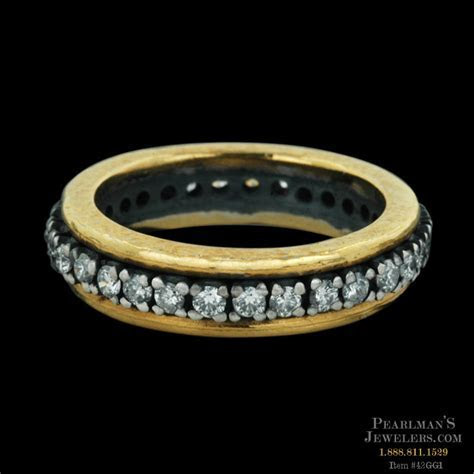 Gurhan Blackened Silver Center Diamond Wedding Band