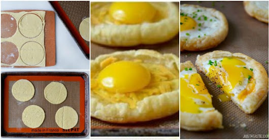 Breakfast Ideas: Cheesy Puff Pastry Baked Eggs | How To Instructions