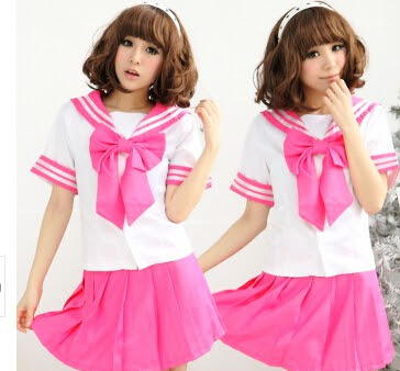 Japanese kawaii students cosplay sailor suits