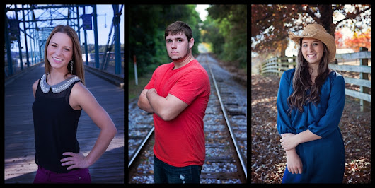 Senior session - working with light and perspective