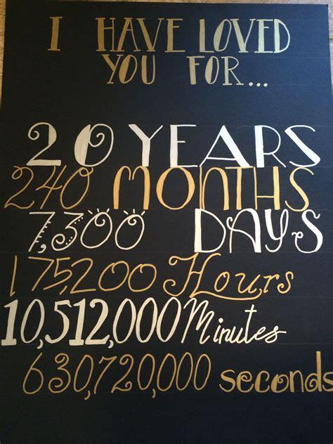 20th anniversary time    Anniversary   Anniv