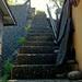 手すりなし。石だけで作られた階段。通称、マチュピチュ階段。