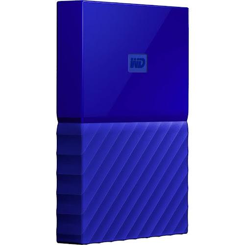 WD My Passport 4TB USB 3.0 Portable External Hard Drive, Blue