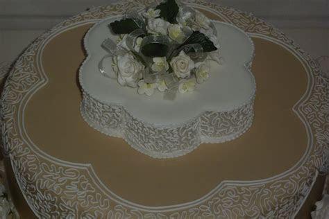 Wedding Cake Filigree Royal Icing   CakeCentral.com