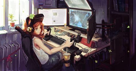 anime gamer girl wallpapers  images